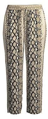 Joie Women's Ceylon Snake Print Crop Pants