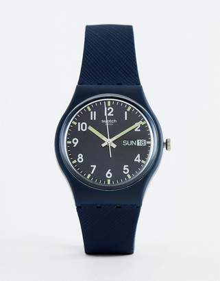 Swatch GN718 Original Sir Blue Watch In Blue