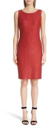 St. John Glamour Sequin Knit Sheath Dress