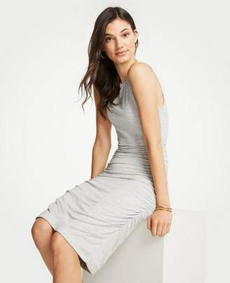 Ann Taylor Ruched Knit Sheath Dress
