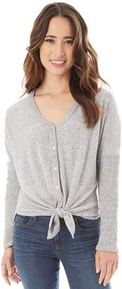 Iz Byer Juniors' Button & Tie Front Sweater