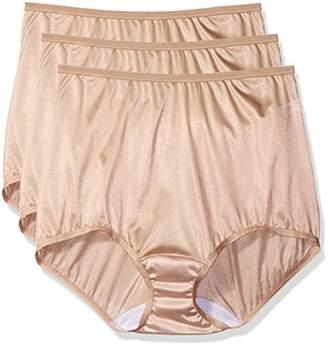 Shadowline Women's Plus Size Panties-Nylon Brief (3 Pack)