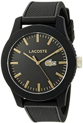 Lacoste Men's 2010818 Lacoste.12.12 Analog Display Japanese Quartz Black Watch