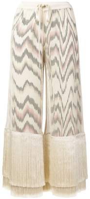 Missoni fringe cropped trousers