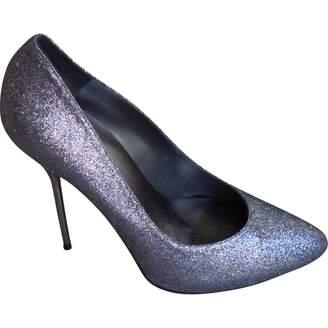 Stuart Weitzman Silver Leather Heels