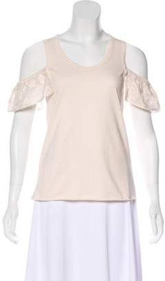 See by Chloe Embroidered Cold Shoulder Top