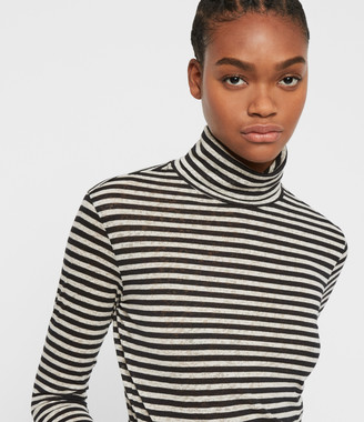 AllSaints Lake Stripe Rollneck Top