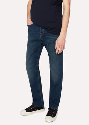 Paul Smith Men's Classic-Fit Blue Rinse 11.8oz 'Super Soft Cross-Hatch' Jeans