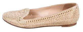 Valentino Studded Suede Loafers Tan Studded Suede Loafers