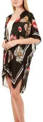 Embellish Floral Scarf Vest