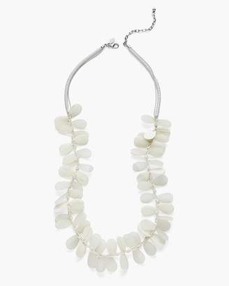 Long White Seaglass Necklace