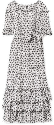 Lisa Marie Fernandez January Ruffled Broderie Anglaise Cotton-voile Maxi Dress - White