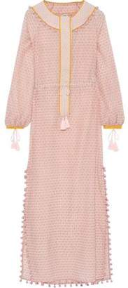 Talitha Collection Embellished Printed Cotton And Silk-blend Kaftan