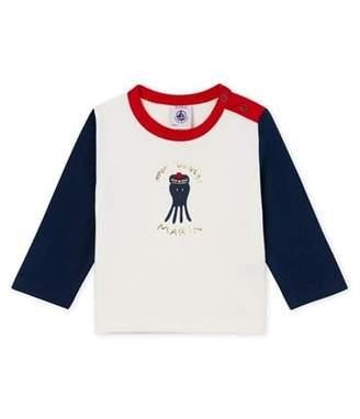 Petit Bateau (プチ バトー) - カラーブロック長袖Tシャツ