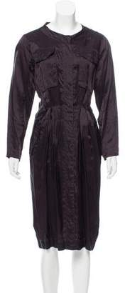 Dries Van Noten Long Sleeve Midi Dress