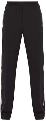 Helmut Lang Side Striped Stretch Wool Trousers - Mens - Black