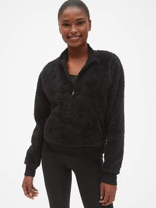 Gap GapFit Half-Zip Sherpa Pullover Sweatshirt