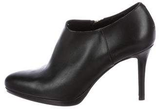 LK Bennett Leather Round-Toe Booties