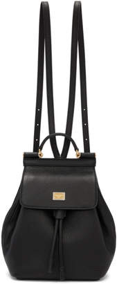 Dolce & Gabbana Black Small Sicily Backpack