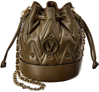 Mario Valentino Valentino By May D Sauvage Studs Leather Bucket Bag