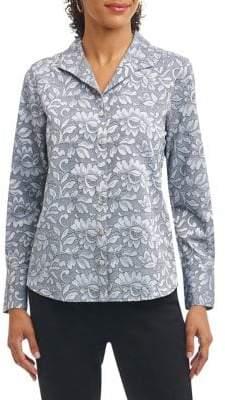 Foxcroft Floral Button-Down Shirt