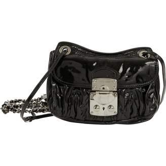 Miu Miu Matelassé patent leather bag
