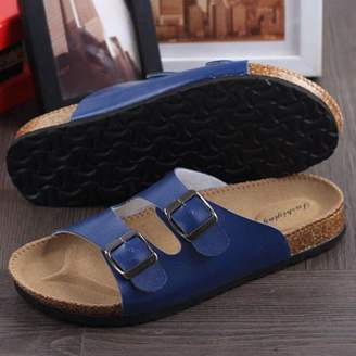 Quitinmaddox Casual Buckle Straps Flat Sandals Fashion Women Slippers Girl Summer Shoes