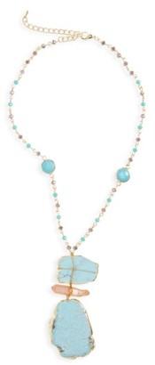Women's Panacea Howlite Pendant Necklace $44 thestylecure.com