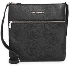 Karl Lagerfeld Paris Bouquet Leather Shoulder Bag