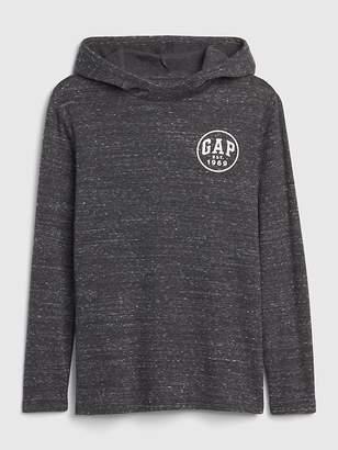 Gap Logo Waffle-Knit Hoodie Sweatshirt