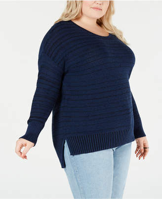 Style&Co. Style & Co Plus Size High-Low Drop-Shoulder Sweater