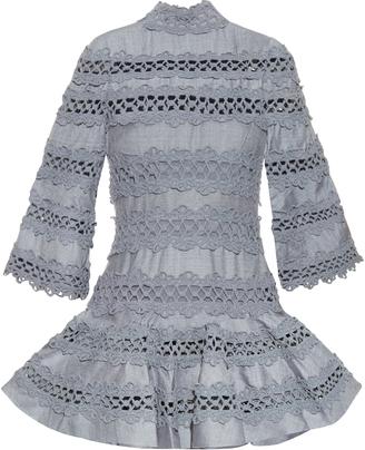ZIMMERMANN Havoc high-neck lace-insert dress $2,995 thestylecure.com