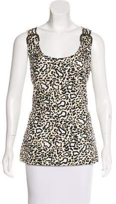 Stella McCartney Sleeveless Leopard Top