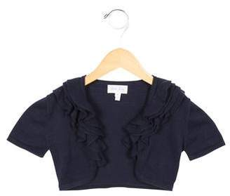 Rachel Riley Girls' Ruffle-Trimmed Cropped Cardigan
