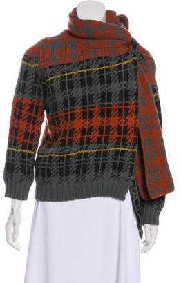 Dries Van Noten Wool Accented Cardigan