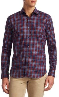 Saks Fifth Avenue COLLECTION Plaid Cotton Button-Down Shirt