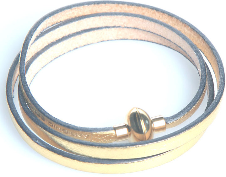Accessories & Beyond Magnetic Leather Bracelet