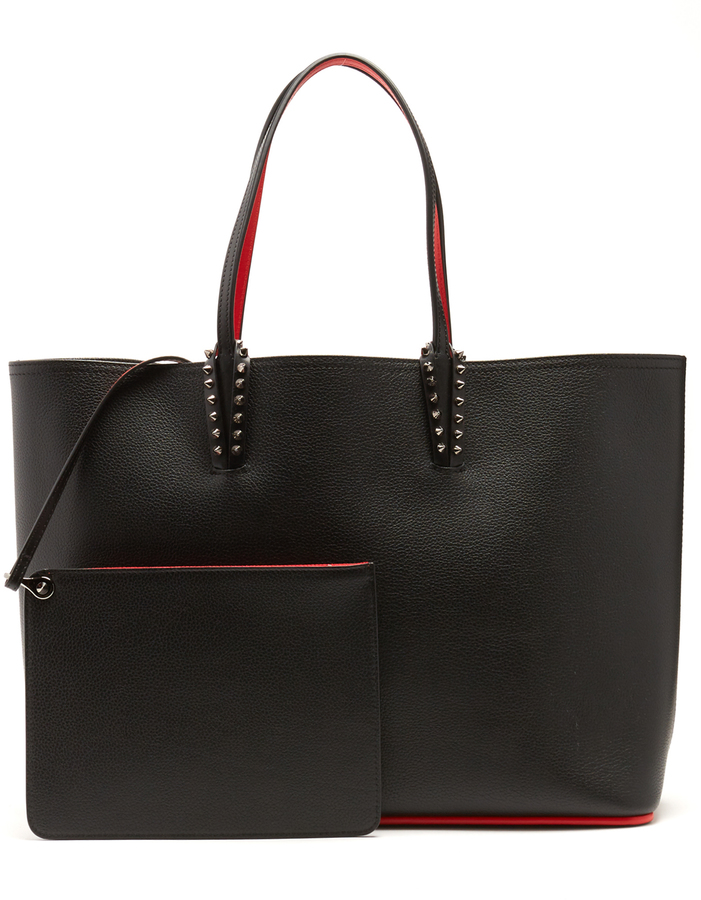 Christian Louboutin CHRISTIAN LOUBOUTIN Cabata spike-embellished leather tote