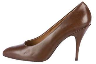 Gianfranco Ferre Leather Pointed-Toe Pumps