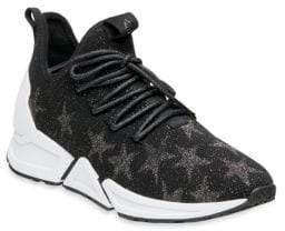 Ash Metallic Platform Sneakers