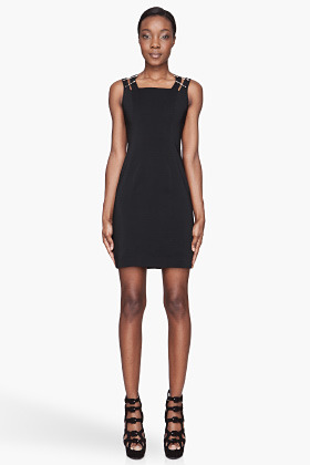 Versus Black safety pin shift Dress