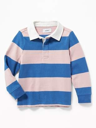 Old Navy Thick-Knit Rugby-Stripe Polo for Toddler Boys