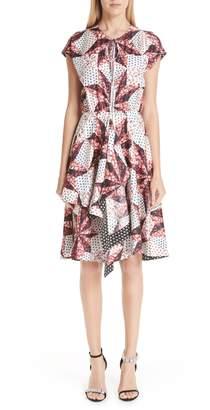 Calvin Klein Patchwork Print Silk Dress