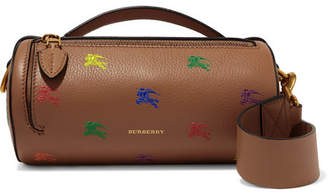 003078a8b0ad Burberry Printed Textured-leather Shoulder Bag - Tan