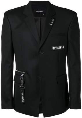 Icosae number printed blazer