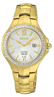 Seiko Women's SUT242 Coutura Analog Display Japanese Quartz Gold Watch $495 thestylecure.com