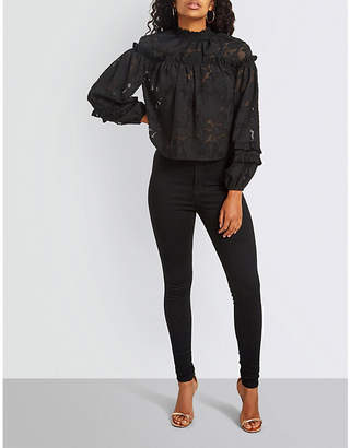 Missguided Floral-lace top