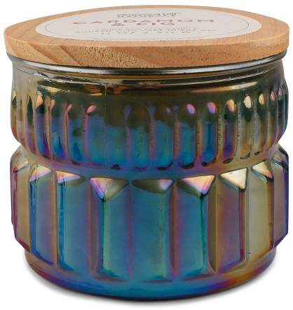 Vineyard Hill Naturals Container Candle Cardamom/Fig Iridescent Finish 11oz - Vineyard Hill Naturals by Paddywax
