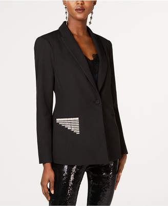 INC International Concepts I.n.c. Rhinestone-Trim Blazer