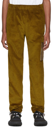 Acne Studios Yellow Corduroy Cargo Pants
